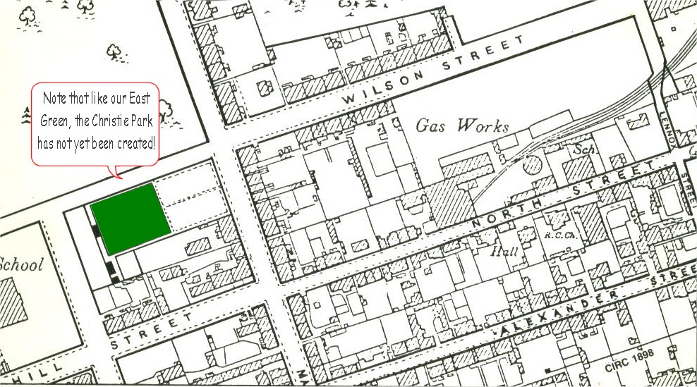 Old map showing Vale of Leven Bowling Club